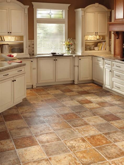 tiled kitchen floors vinyl kitchen floors hgtv