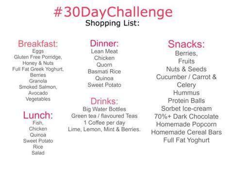 45 day diet challenge diet food lists 30 day challenge diet