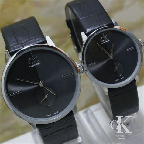jual jam tangan ck k 2888 tali kulit chrono detik