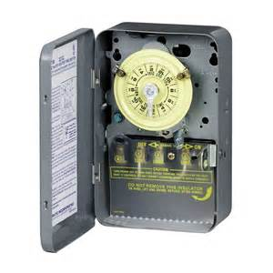 light timers intermatic mechanical residential hardwired timer lowe s