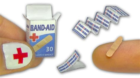 miniatures y dollhouse plantillas miniature doll band aid or adhesive bandages strips and
