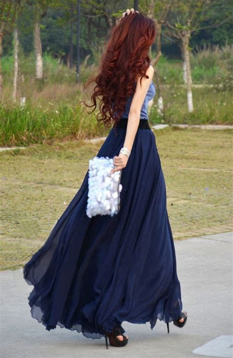 dressy maxi skirt wedding graduation look