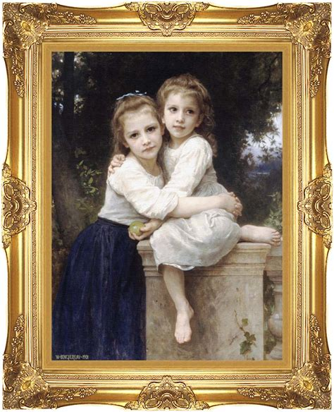 by william bouguereau two sisters william bouguereau two sisters 12x16 framed art canvas