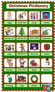 printable christmas pictionary cards english worksheet christmas pictionary 1 2