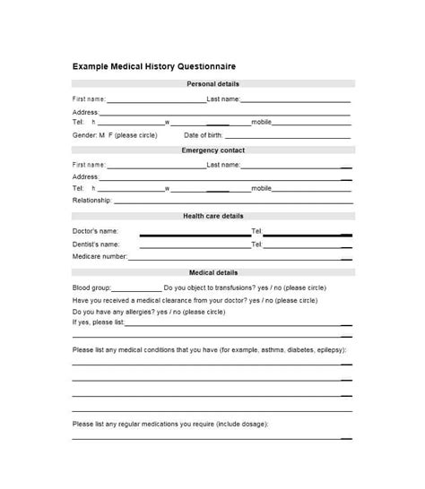Healthcare Kit Medical Health And Wellness Questionnaire Template