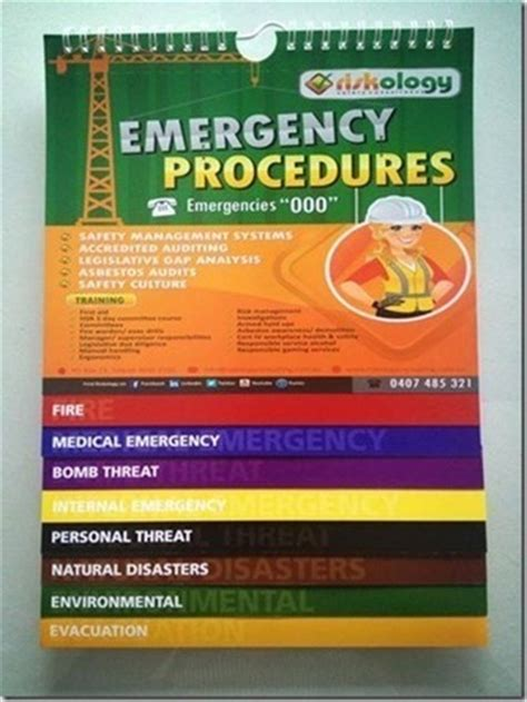 emergency procedures template nz free emergency flipchart giveaway safety and risk