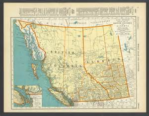 items similar to vintage map of columbia alberta