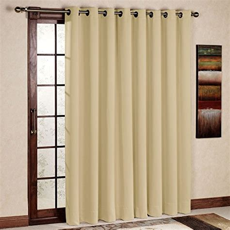 patio door thermal blackout curtain panel rhf wide thermal blackout patio door curtain panel