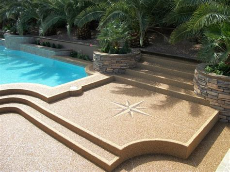 pebble coating patio stairs traditional patio las vegas by pebble