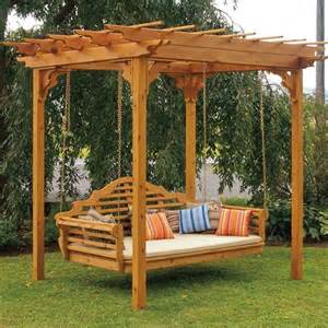 Pergola Swing by A Amp L Western Red Cedar Pergola Swing Bed Set Porch