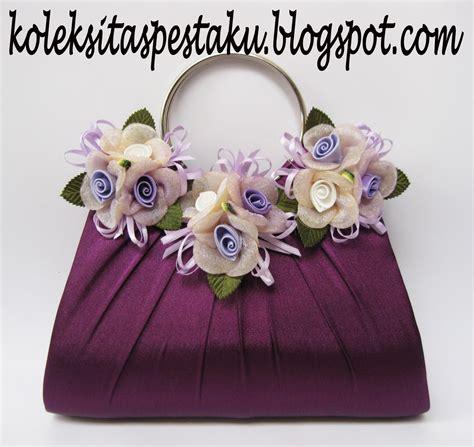 Tas Pesta 003 Purple tas pesta clutch bag taspestaku clutch bag tas pesta ready terbaru warna purple dengan bunga