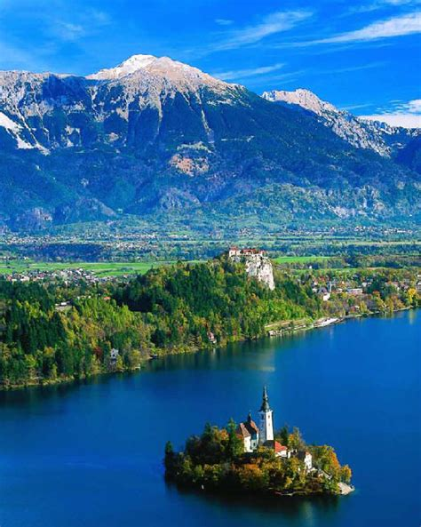 lake bled hilly areas of the world lake bled slovenia