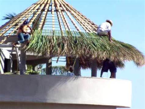 building a the palapa on the new house across the street youtube