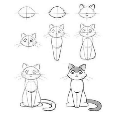 imagenes faciles para dibujar a lapiz paso a paso instrucciones de como dibujar un gato facil paso a paso