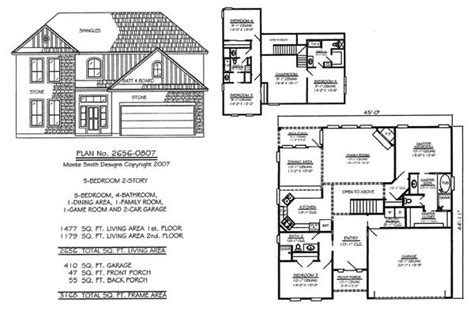 2 story 5 bedroom floor plans 5 bedroom to estate under 4500 sq ft
