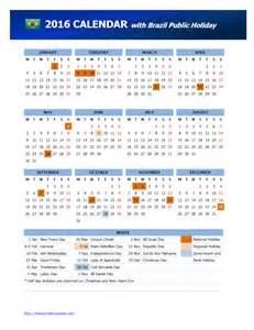 2016 brazil public holidays calendar freewordtemplates net