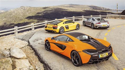 Top Gear Audi R8 by The Mclaren 570s Vs Porsche 911 Turbo Vs Audi R8