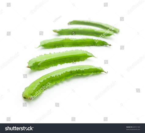 White Also Search For Winged Bean Isolated On White Also Known As Goa Bean Asparagus Pea Or Winged Pea
