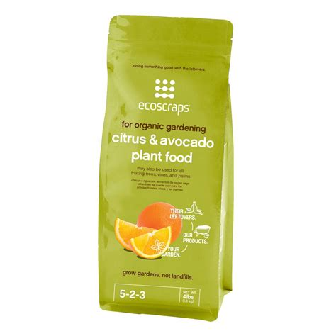 ecoscraps 4 lbs citrus and avocado plant food pfca174404
