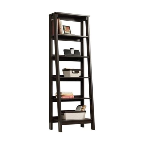 5 shelf trestle bookcase 5 shelf bookcase in jamocha wood 414602