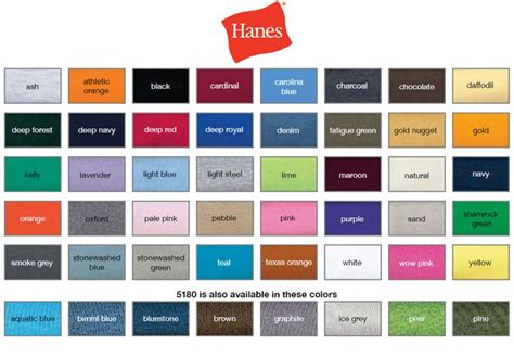 tshirt colors hanes offers great colors for t shirts and polos your