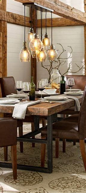 Rustic Dining Room Light Fixtures Dining Rooms Lighting And Tables On