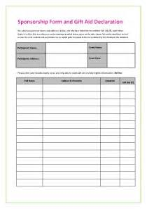 sponser form template sponsorship form template uk