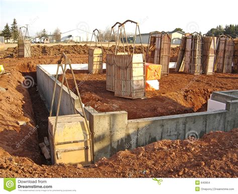 new home foundation new house foundation stock images image 640954