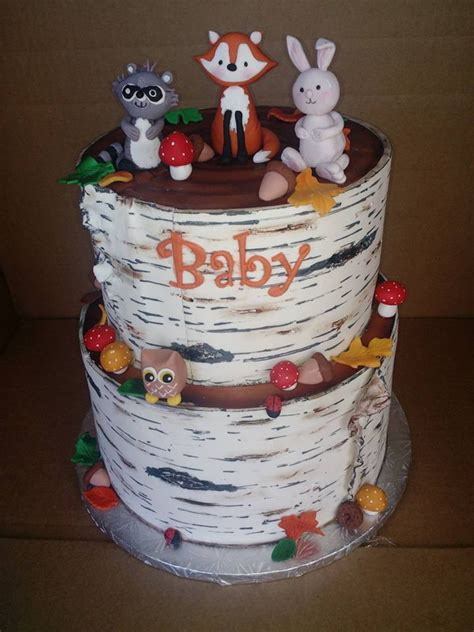 Woodland Critters Baby Shower by Woodland Creatures Baby Shower Cake Www Pixshark