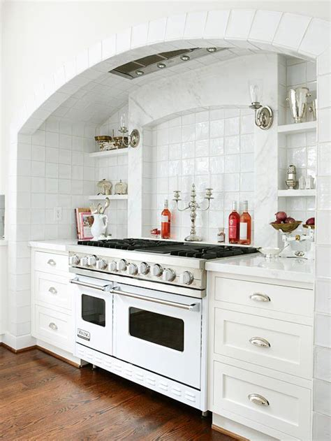 kitchen alcove ideas stove alcove traditional kitchen bhg