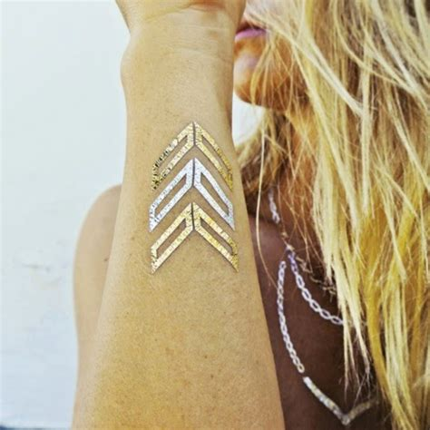 beautiesmoothie metallic flash tattoos