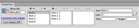 tutorial membuat dropdown menu spry menu bar horizontal making a spry dropdown menu tutorial dreamweaver club