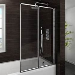 haro folding bath screen 2 fold concertina from embrace shower enclosure range roman showers