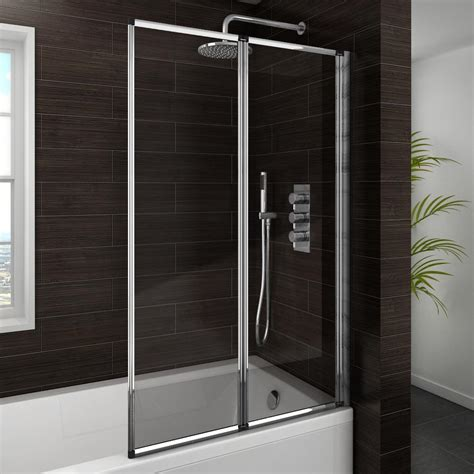 Concertina Shower Doors Haro Folding Bath Screen 2 Fold Concertina From Plumbing