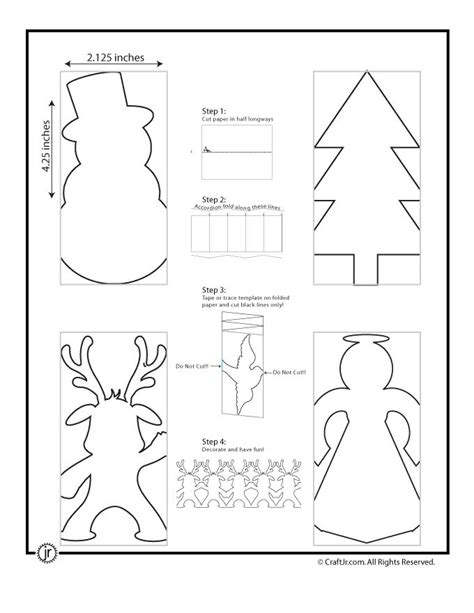 christmas paper chain template craft jr crafts