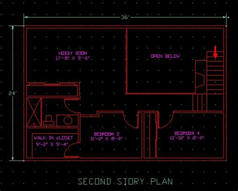 Floor Plan For 2 Story House by Drawing Elevation With Autocad John S Site