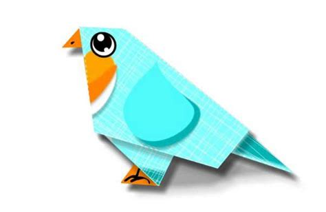 papercraftsquare com new paper craft origami blue bird
