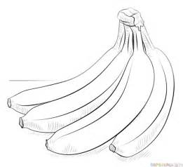 How To Draw Banana How To Draw A Bunch Of Bananas Step By Step Drawing