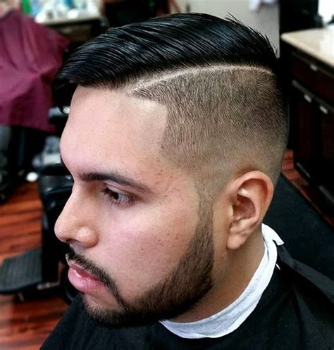 shaved parting shaved side part hairstyles for men