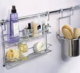 Bathroom hanging storage bar