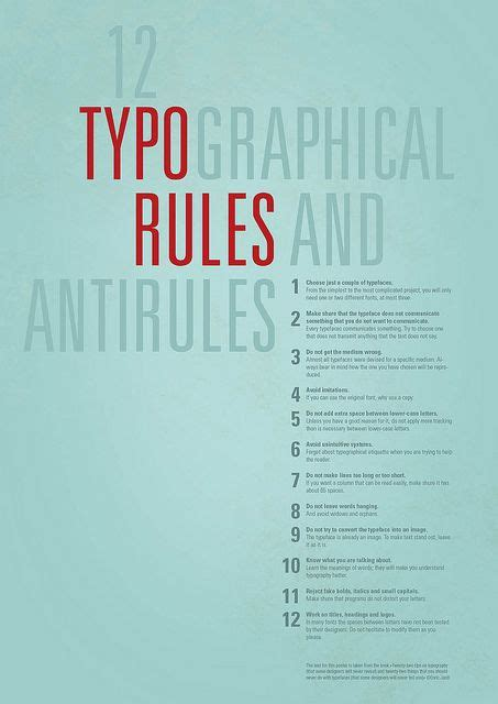 type layout rules 331 best images about art inspiration on pinterest