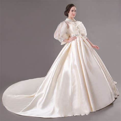 buy cheap princess ball gown wedding dress with long sleeves