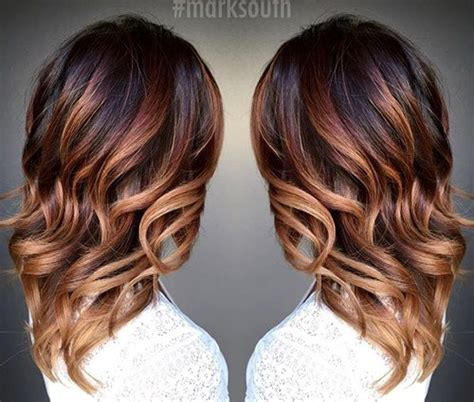 fall highlights for brown hair 20 cute fall hair colors and highlights ideas