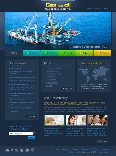 Gas Oil Website Template 24203 And Gas Company Website Template