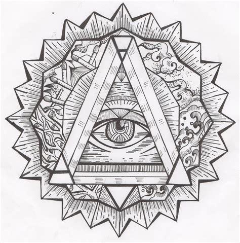 all seeing eye tattoo meaning symbolism all seeing eye mandala eye and triangle symbol