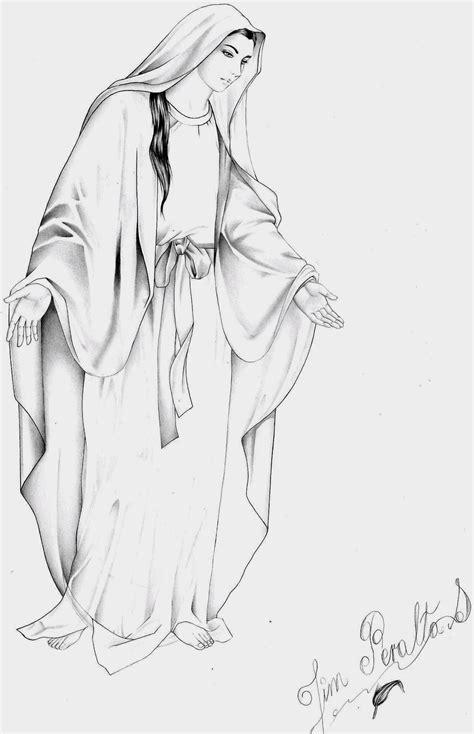 imagenes a lapiz de la virgen maria dibujos a l 225 piz de la virgen mar 237 a imagui