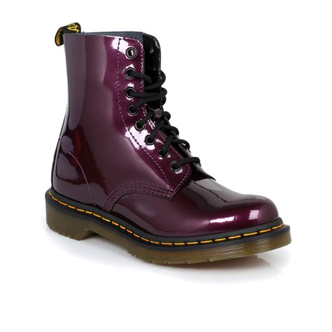 dr martens purple pascal leather womens boots sizes 3 9 ebay