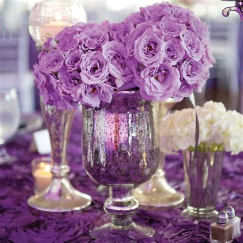 purple and white centerpieces for weddings purple wedding centerpieces ipunya