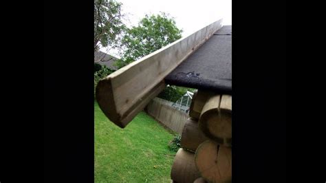 put  grass roof   log cabin youtube