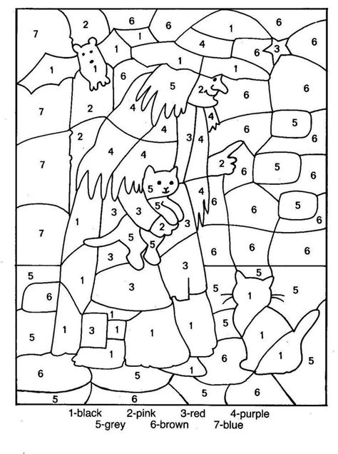 halloween coloring pages by number halloween color by numbers coloring home